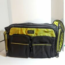Eddie Bauer Baby Diaper Bag with Infant Changing Pad color Green Grey
