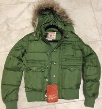 NWT AUTH Women's Green True Religion Down Jacket