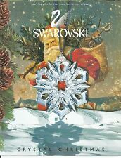 PROMO 1999  Swarovski Crystal Christmas ornament -- FLYER -- Broschure