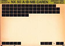 HONDA NX50 A B MB Caren ~ 1982 Microfiche Spare Parts Catalogue Manual