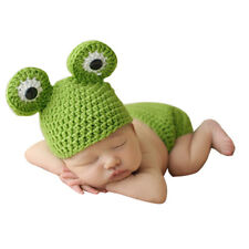 Newborn Baby Infant Crochet Knit Frog Hat Costume Photo Photography Prop Beanie