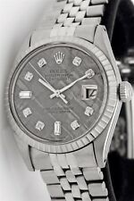 Estate $12,000 Rolex Mens DATEJUST Meteorite Diamond DIAL SS Watch BOX & WTY