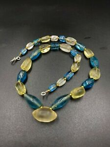 Ancient trade beads  of crystals and color rare Glass beads from Southeast Asia