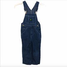 John Deere Boy's Overall Pants Blue Size 6 Logo Bib Denim Blue Jeans
