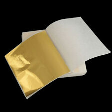 100pcs 24K Gold Leaf Sheets. For Art Crafts Design Gilding Framing Scrap Fashion