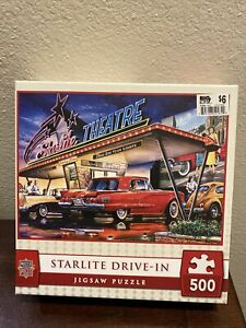 MasterPieces Starlite Drive-in 500 Pc Jigsaw Puzzle 21 x 15 NEW Dan Hatala