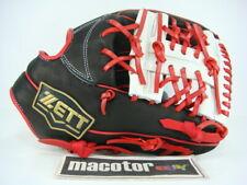 """ZETT Special Model 12"""" Infield Baseball / Softball Glove Black Red RHT Rare Gift"""