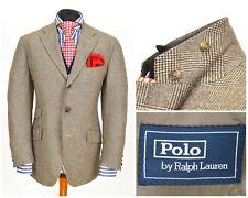 Mens Polo Ralph Lauren Hacking Blazer Jacket Sport Wool Brown Italy EU52 / UK42