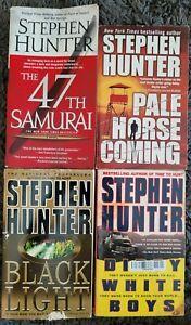 STEPHEN HUNTER BOOK LOT OF 4 PAPERBACK THRILLER ACTION NOVELS FREE SHIPPING!