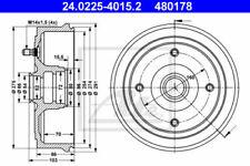 2x ATE Bremstrommel Hinterachse(HA) 24.0225-4015.2 für Renault Trafic Opel Arena