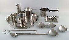 "Arne Jacobsen for Stelton. ""Cylinda Line"" serving tray, three ashtrays, 1970s"