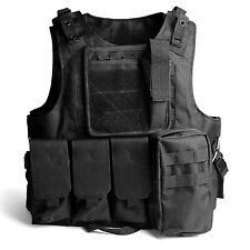Tactical Vest Adjustable Military Army Molle Combat Police SWAT Plate Carrier AU