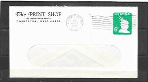1968 The Print Shop, Coshocton, Ohio Window Envelope Advertising Cover