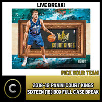 2018-19 PANINI COURT KINGS BASKETBALL 16 BOX (CASE) BREAK #B155 - PICK YOUR TEAM