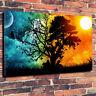 """Stunning """"Night & Day"""" Wall Art Printed Canvas Picture A1.30""""x20"""" x 30mm Deep"""
