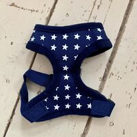 Navy Blue Stars Dog Harness Pattern Chest Harness Size Extra Small