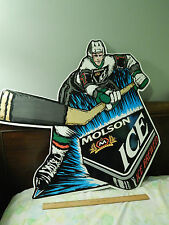 """Oh, Canada!"" MOLSON ICE Brewed Beer (METAL SIGN) NHL Hockey Promo ""Slapshot!"""