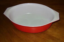 PYREX Cherry Red Oval 2.5 qt Casserole  Pattern #045  NO COVER/LID