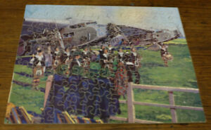 Victory Wooden JIG-SAW PUZZLE Dagenham Girl Pipers