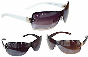 Sonnenbrille Damenbrille mit Strasssteinen Monoglas Trendy Brille  M 33