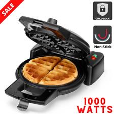 Belgian Waffle Maker 1000W Non-Stick 33.0 x 22.0 x 10.0cm Portable Child Lock