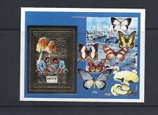 CONGO 1991 MUSHROOMS CHAMPIGNONS BOY SCOUTS (Scott 874b GOLD FOIL) VF MNH