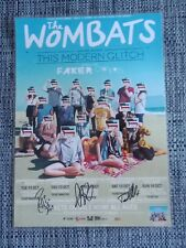 THE WOMBATS - 2011 Australia Tour SIGNED AUTOGRAPHED Poster - THIS MODERN GLITCH