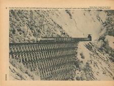 1956 Canadian Pacific Railroad Train Crossing Trestle Romeo British Columbia CP