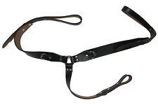 Braces Vintage Shoulder Harness, Army Suspenders Braces Black leather R1643