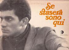 LUIGI TENCO DISCO LP 33 GIRI SE STASERA SONO QUI - RICORDI MRP 9033