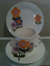 HOSTESS TABLEWARE DOLLY DAYS 1960s TRIO DESIGNED BY JOHN RUSSELL mid century