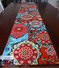 """TABLE RUNNER 34 X180CM BRIGHT BOLD PATTERN """"OTTO' SURE TO MAKE ANY TABLE FESTIVE"""