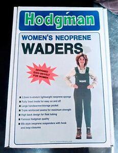 NIB NOS Vintage Hodgman Women's Dark Green Neoprene Hunting Fishing Waders sz S
