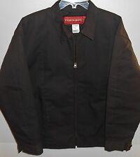 Farm Boy Brown Full Zip Quilted Lightweight Jacket Men's Size XLT New