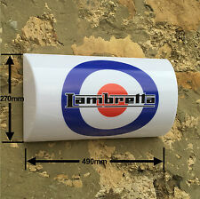 LAMBRETTA SCOOTER BIKE SIGN LED LIGHT BOX man cave garage MOD TV175A B C D L1