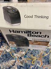 Hamilton Beach Bread Maker #29882 Black Machine 2 Lb Capacity Digital Homebaker