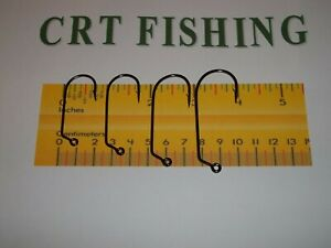 EAGLE CLAW 730BP BLACK O'SHAUGHNESSY 60° JIG HOOK 50 PACK CHOOSE SIZE 3/0 - 6/0