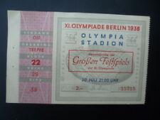 Billet d'entrée JO BERLIN 1936 - Répétition  / cérémonie d'ouverture 30 juillet