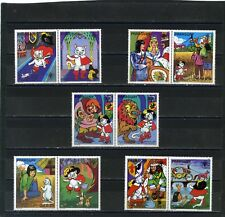 Paraguay 1982 Story Of Puss In Boots Set Of 5 Stamps W/Labels Mnh