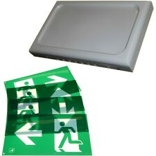LED Emergency Panel Light Exit Escape Sign 3hr Backup Maintained Non-Maintained
