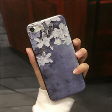 Elegant flower Case For iPhone 8 X 7 6S 6 Plus Pretty Floral Cartoon Back Cover
