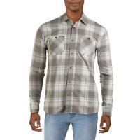 Levi's Mens Rosa Gray Plaid Collared Woven Button-Down Shirt XL BHFO 7472