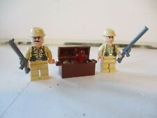 Lego Indiana Jones Mini figures 2 - German Soldiers With Chest Of Treasure