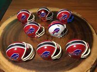 (8) Riddell Pocket Pro Football Helmets (Buffalo Bills)