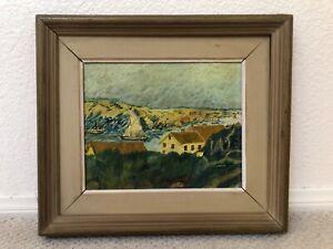 🔥 Antique Impressionist Oil Painting Landscape, Vincent Van Gogh - Signed