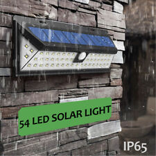 54 LED Solar Powered Motion Sensor Waterproof Garden Wall Light Security Lamp