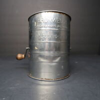 Bromwell's Vintage 3 Cup Flour Sifter Wooden Handle