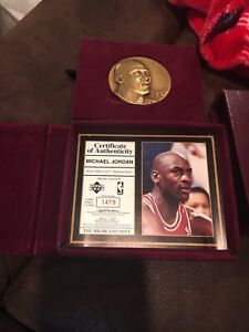 Highland Mint Michael Jordan Bronze Magnum basket ball medallion 1 Of 3000!