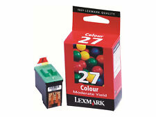Genuine Original Lexmark 27 Colour Ink Cartridge 10n0227e