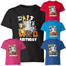 Personalised Your Age Kids T Shirt Animals Jungle Birthday Boys Girls Tee Top